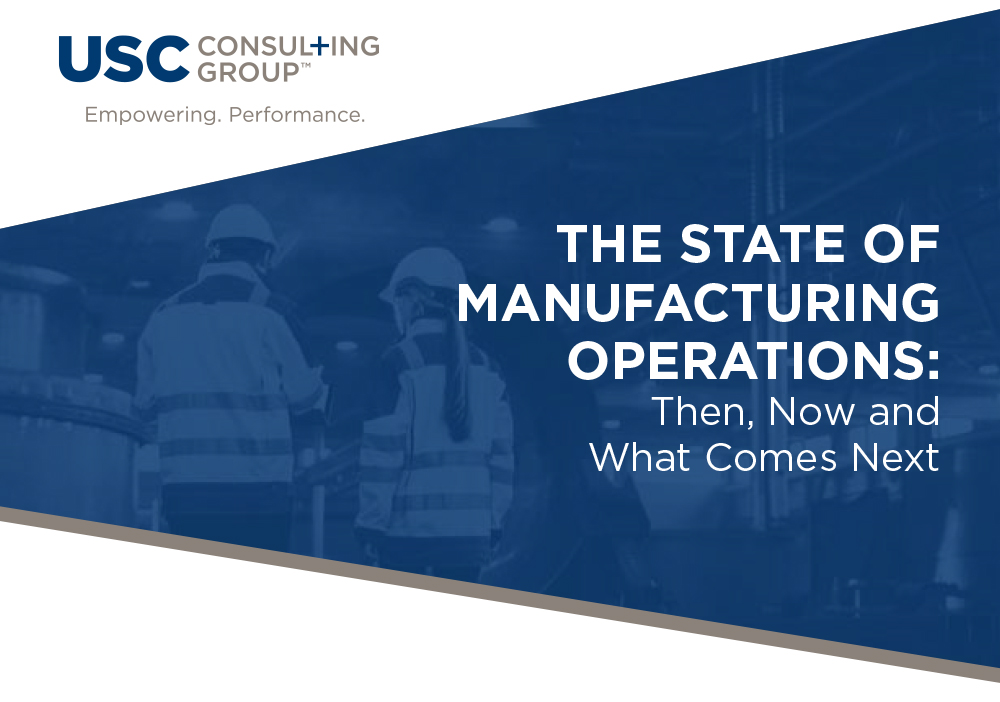 The State of Manufacturing Operations Cover